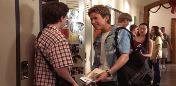 Jonathan Taylor Thomas and Blair Slater in I'll Be Home for Christmas