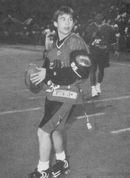 Scan from Tiger Beat 1997 - Jonathan Taylor Thomas at the MTV Rock n' Jock Football