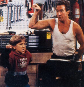 "TV dad Tim Allen, was more ""like a brother,"" says Thomas (with the star in 1991)"