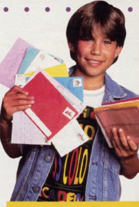 Jonathan Taylor Thomas with letters - Tutti Frutti magazine scan 1995.