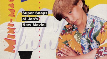 Tutti Frutti Cover Page January 1995 featuring Jonathan Taylor Thomas