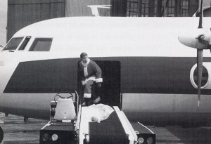 Jake (Jonathan Taylor Thomas) getting of the plane. Photo credit: Alan Markfield, (C) The Walt Disney Company