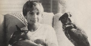 Jonathan Taylor Thomas with a deer and owl in Wild America