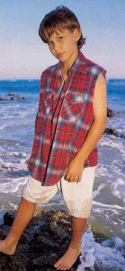 Jonathan Taylor Thomas on the beach.