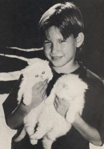 Jonathan Taylor Thomas with his cats
