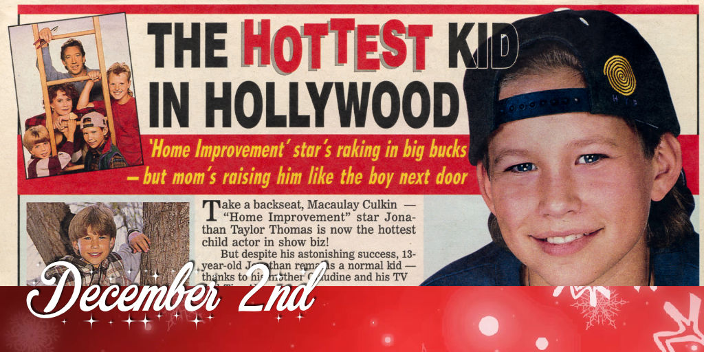 December 2nd The hottest kid in Hollywood JTTArchive.Net